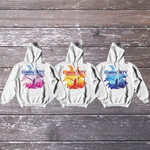 Luminosity Beach Festival Palm Crowd Hoodie Unzipped