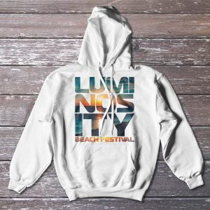 Luminosity Beach Festival Sunset Hoodie Unzipped