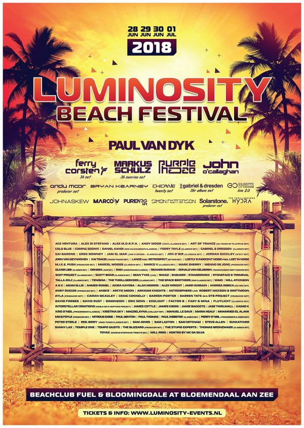 Luminosity Beach Festival 2018 POSTER (42 x 60cm)