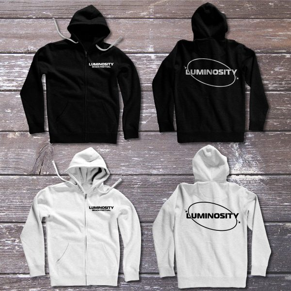 Luminosity Beach Festival Logo Zipped Hoodie